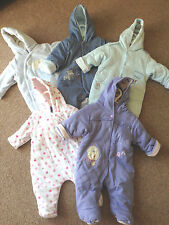 Ex Mothercare / M&S Baby Boy / Girl Snowsuit All in one Pram Suit BN 0-24 months