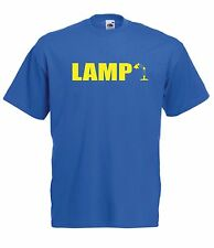 LAMP funny nerd geek game gamer present tee NEW Top Boys Girls T SHIRT 1-15 Year