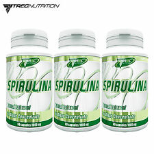 Spirulina 60-180 Caps Sea Algae Concentrate Source of Proteins Homeostasis Pills