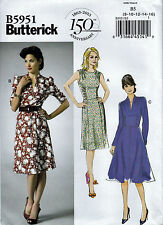 EASY SEWING PATTERN - RETRO 40s DRESS SHORT OR LONG SLEEVES - Sizes 8 up to 24