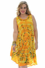 New Womens Dress Summer Ladies One Size Kaftan Holiday Nouvelle Printed Floral