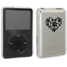 For Apple iPod Classic Hard Case Cover 6th 80gb 120gb 7th 160gb Heart Paw Prints