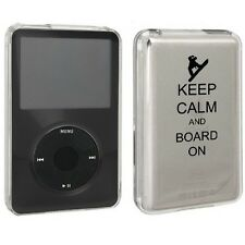 For Apple iPod Classic Hard Case Cover 80gb 120gb 160gb Keep Calm Snowboard On