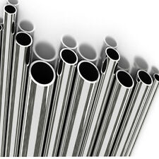 "1x Metre Stainless Steel Tube MIRROR POLISHED Options 1/2"",3/4"",1"",1-1/2"" & 2"""