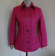 New w/Tag Burberry Brit Women's Copford Quilted Coat Fushia size S or M
