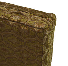 we62t Lt. Brown Lt. Gold Lt.Olive Damask Thick Cotton 3D Box Seat Cushion Cover