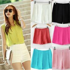 Woman's Korean Fashion Personality High Waist Shorts Hot Beach Short Pants -S