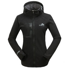 New Womens Hooded Coats Soft Shell Clothes Waterproof Outdoor Ski Snow Jacket