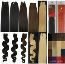 20inches Weft Weaving Wavy Straight Remy Human Hair Extensions 100g 150cm width