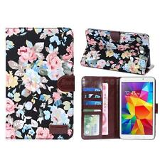 Floral PU Leather Case Cover Stand Card Wallet for Samsung Galaxy Tab 4 7.0 SWTG