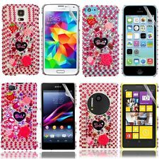 Barbie Crystal Diamond Case Cover+Film For Samsung HTC LG BB Sony iPhone Nokia