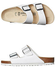 New Birkenstock Women's Womens Arizona Sandal Leather Shoes White