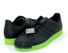 check out 2adf1 3c95c New 11 adidas Originals SUPERSTAR CLR Shoes Black Electricity Yellow Neon  Q22999