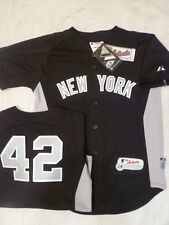 4614 BOYS Youth Majestic New York Yankees MARIANO RIVERA Authentic BP Jersey BLU
