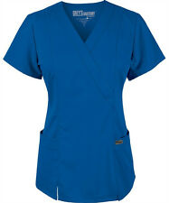 Scrubs Grey's Anatomy Jr. Fit Mock Wrap Top 41101 Royal   FREE SHIPPING!