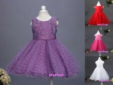 Girls Flower(D6)Formal Wedding Bridesmaid Party Christening Dress