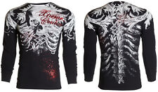 Xtreme Couture AFFLICTION Mens THERMAL T-Shirt PERSIMMON Biker MMA UFC S-3XL $58