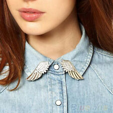 Women Girl Lady Stunning Fashionable Punk Wings Style Collar Pin Brooch Chic Pin