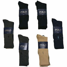 Polo Ralph Lauren Dress Socks 3 Pack Pony Logo One Size Fits Shoe 6 to 12.5 P044