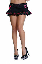 LDS New Womens Retro 50S Sexy Black Pinup Fitted Mini Micro Skirt S M L XL