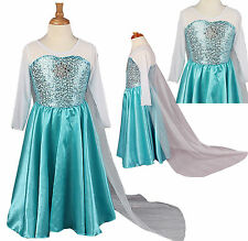 Frozen Disney Elsa Anna Party Dress Disney blue age 3 4 5 6 7 8  years UK STOCK