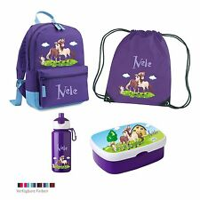 SET Kindergartenrucksack Bi-Color |  Brotdose | pop-up Trinkflasche Rosti Mepal