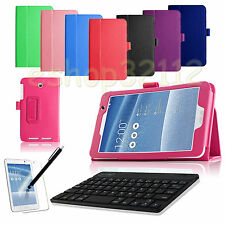 Folio PU Leather Case Smart Cover ASUS MeMO Pad 7 ME176 7-inch+Keyboard+Pen+Film
