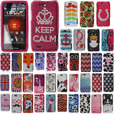 For Motorola Droid 4 XT894 Ladybugs Crystal Bling Hard Case Cover Accessory