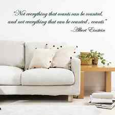 Albert Einstein quote, famous, science, Wall Sticker Decal, SS2287
