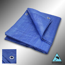 Blue Tarp All Weather Resistant Tarpaulin Tent Lightweight Reinforced Poly Cover