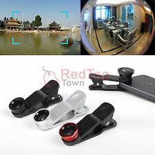 Universal Fisheye+Wide Angle+Micro Lens For iPhone 5S 5C 4S OnePlus One+ A0001