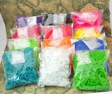 Wholesale Lots 600pcs Rubber Band Loom Refill DIY Bracelet 24pcs Clips 10 colors