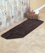 Chocolate Reversible Bath Mats or Runners Bathroom Rugs Plush & Terry