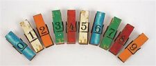 Painted Wood Magnet Clip with Number 0 to 9 Various Colors Clothes Pin Design