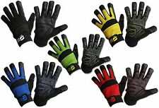 Mechanics Work Gloves Synthetic Leather PVC Grip Washable Sizes XS S M L XL XXL