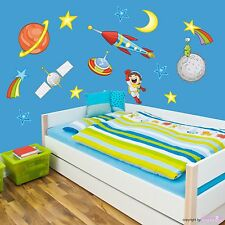 Astronauts Room Space Astronaut Planet Star UFO Wall Stickers