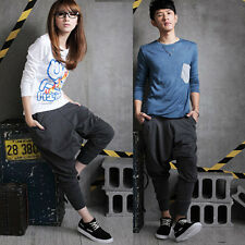 New Hot Mens Womens Hip Hop Harem Pants Drop Crotch Sweatpants Trousers Hot