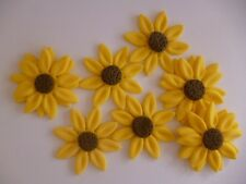 Bulk Edible Cake Cupcake Decorations Sunflower Fondant Flower Sugar Blossom