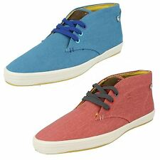 "MEN'S FISH 'N' CHIPS BY BASE LONDON ""STYLE ROD"" CANVAS LACE UP CASUAL SHOE/BOOT"