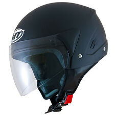 Matt Black open face Helmet Cruiser Rider Chopper MT Ventus Bobber + freebies