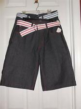 Imperious Trading NEW Belted Denim Shorts- Size W32 L14 Retail $49.99