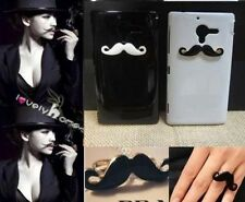 2x 3D bling Rhinestone Mustache Cover Case For Various SONY cell phone