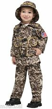 Toddler Boys Child Army Soldier Desert Commando Camo Camoflauge Costume NEW