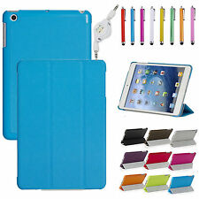 Ultra Slim Smart Cover PU Leather Case Stand For Apple iPad Mini and Retina