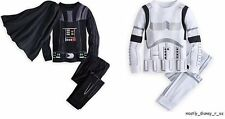 NEW Disney Store Star Wars Darth Vader w/ Cape Stormtrooper Pajamas Long Sleeve