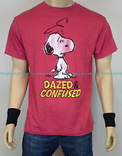"""Licensed Peanuts Snoopy """"DAZED AND CONFUSED"""" T Shirt funny humor charlie brown"""