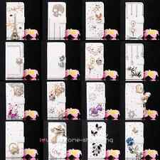 Luxury Diamond Rose Wallet Leather Flip Case Cover for various HTC cell phone