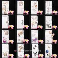 Luxury Crystal Tower Wallet Leather Flip Case Cover for various Nokia cell phone