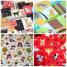 Free Shipping by the yard tortoise dog bat printed 100% Cotton Fabric 43.3""