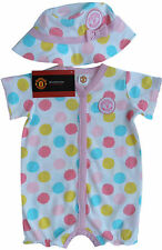 Official Manchester United Licensed Product - Girls Romper and Hat Set BNWT